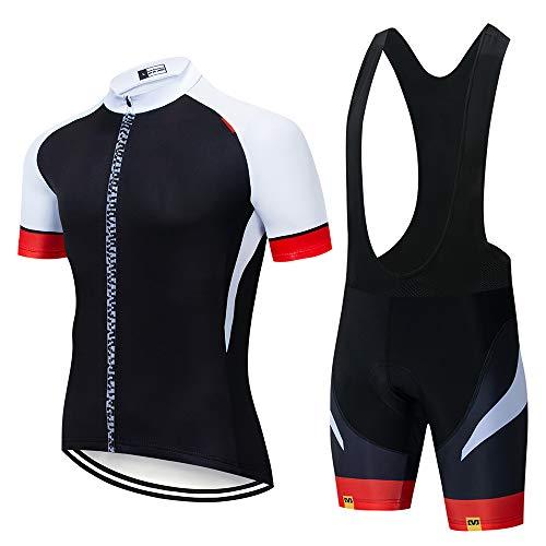 Maillots Ciclismo Hombres Ropa Verano Ciclismo y Pantalones Cortos de Ciclismo Conjunto Ropa Ciclismo al Aire Libre