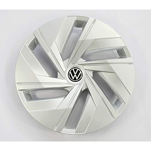 Volkswagen 11A601147WZF Radkappe (1 Stück) Radzierblende 18 Zoll Stahlfelge Radblende, silber