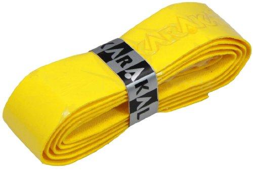 Karakal, Griffband / Griff-Tape, selbstklebend, für Badminton / Squash / Tennis / Hockey / Curling, Polyurethan, ausgezeichnete Griffigkeit, gelb, 1x Grip
