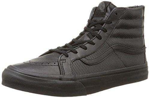 Vans - U Sk8-Hi Slim Zip Perf Leather, Sneakers, unisex, Nero (Perf Leather/Black/Black), 38.5
