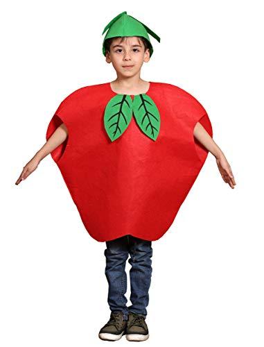 Niños Frutas Verduras y Trajes de la Naturaleza Trajes Fiesta de Disfraces Niños y niñas (Manzana roja)