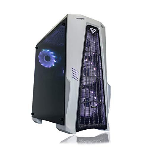 Gaming PC Desktop Computer White by Alarco Intel i5 3.10GHz,8GB Ram,1TB Hard Drive,Windows 10 pro,WiFi Ready,Video Card Nvidia GTX 650 1GB, 4 RGB Fans (Renewed)