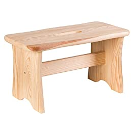 axentia Repose-pied en bois 40 x 20 x 22 cm – Marchepied en bois – Tabouret repose-pied en bois