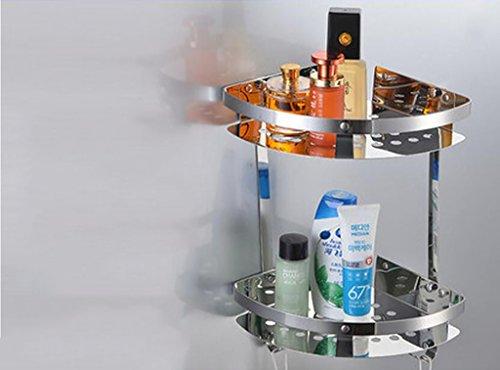 FAFZ Acciaio inossidabile Shelf, Rack da bagno, Prodotti da bagno ( Colore : 2#22*5cm )