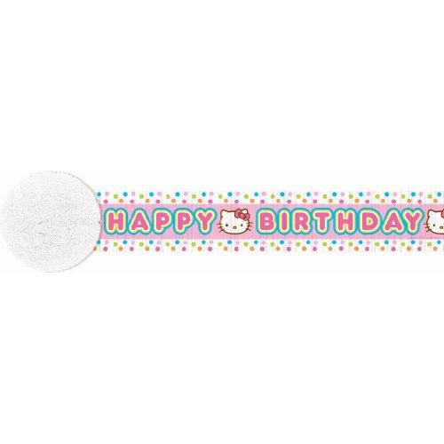 Hello Kitty 'Balloon Dream' Crepe Paper Streamer (30ft)