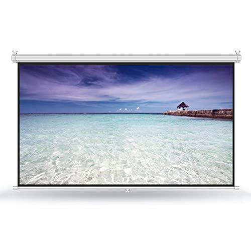 GYX-Décoration Pantalla de Proyeccion - 4:3/16:9 HD Pantalla de Proyección Desplegable Manual con Cerradura Automática Pantalla de Proyección Plegable, para Películas en Interiores y Exteriores