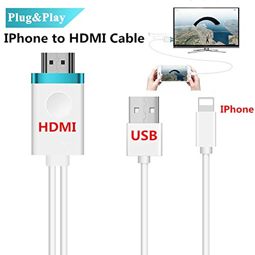 Romsion Converter HDMI Kabel voor IPhone naar HDMI Adapter Digitale AV naar 1080P HDTV Cord Converter voor iPhone X/8/8+/7/7+/6/6+/5S HDMI Connector