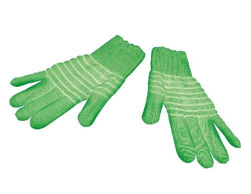 infactory Handschuhe für Halloween: 1 Paar nachleuchtende Handschuhe Glow-in-the-dark, Gr. XL (Party-Handschuhe)