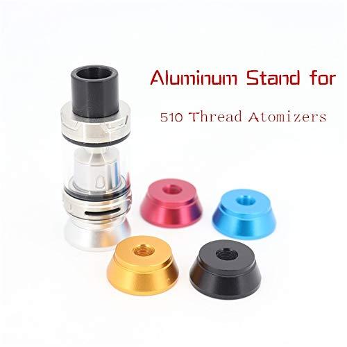 Qingtian-ceg Soporte de Aluminio Mini de 5 Piezas para atomizadores de Hilo 510 (diámetro de 25 mm),Sin Tabaco ni nicotina (Color : 5pcs Red)