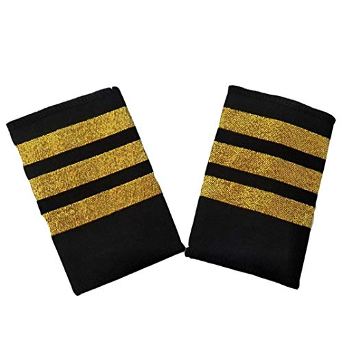 Professionelle Pilot Uniform Epaulets Streifen Muster Dekoration Uniformen Zubehör Epauletten Schulter Pilots Bar Für Hemd -drei Bars