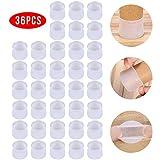 Veraing 36Pcs Silikon Stuhlbeinkappen Stuhl Bein Caps Füße Pads Runde Anti-Rutsch-Gummi Möbelfüße Tassen Table Covers Boden Protektoren für 25-29MM Runde Beine(Transparent)