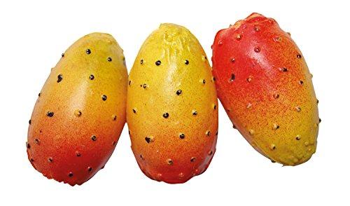 ERRO 3er Set Foodmodels Kaktusfeigen orange - 01045, Obstattrappe als Requsite, Kunststoff Lebensmittelattrappen zur Deko, Obst Nachbildung, Hohlattrappe