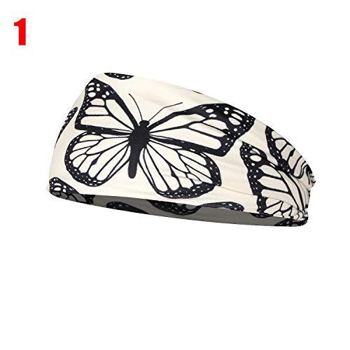 Diadema elástica con diseño de leopardo, para yoga, para deportes, gimnasio, antideslizante, delgada, para fitness, antitranspirante, moda turbante