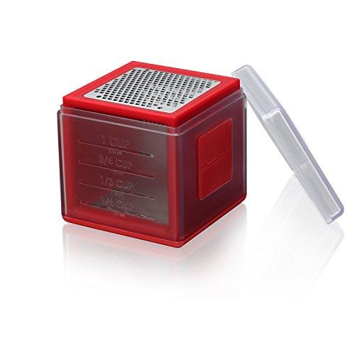 Microplane 34102 Mini râpe, Plastique, Rouge, 1 EA