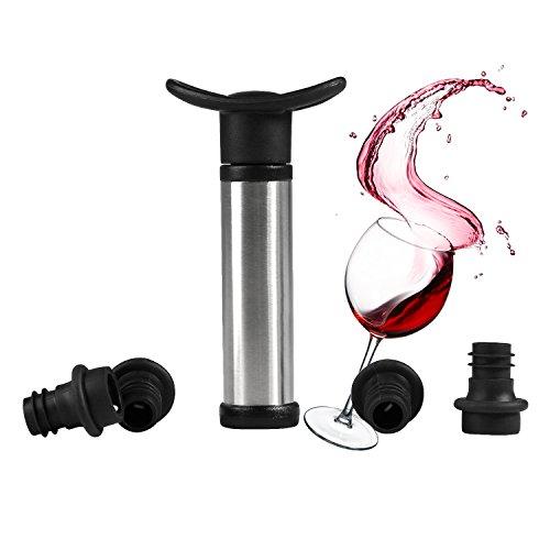 Ahorrador de Vino Bomba de vacío, ballery ahorrador de vino de acero...