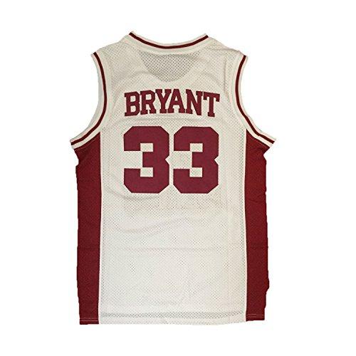 JerseyFame Men's Basketball ' 33 Bryant ' Basketball Jersey White ALL SIZE (XL)