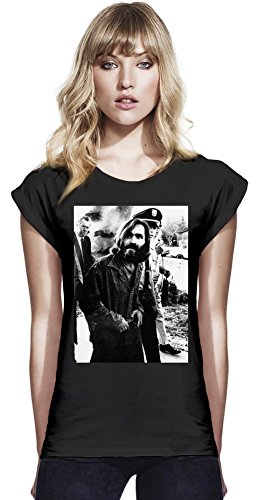 Charles Manson Criminal Vintage Womens Continental Rolled Sleeve T-Shirt Large