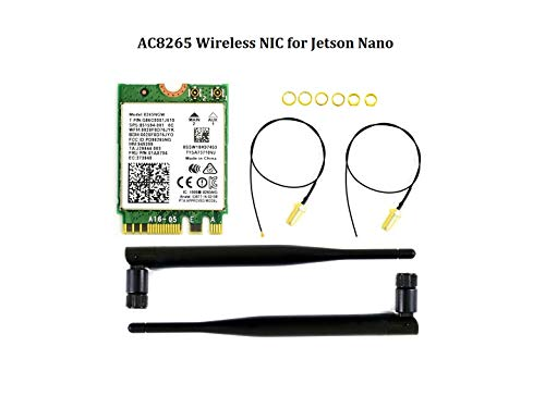 IBest AC8265 Wireless Nic Dual Mode Wireless Card for Jetson Nano, Supports 2.4GHz / 5GHz Dual Band WiFi and Bluetooth 4.2, 300Mbps / 867Mbps, Support Linux, Windows 10/8.1/8/7