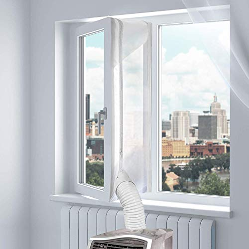 400cm Aislamiento de Ventana para Aire Acondicionado Móvil, Aislante para Ventana para Aire Acondicionado Portátil y Secadora, Parada de Aire Caliente - Window Seal for Mobile Air Conditioner
