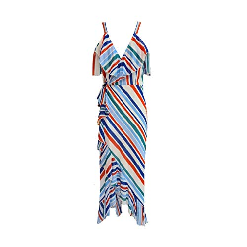 Fracomina Long Dress Multicolor Abito Lungo Da Donna, Rosso, M