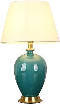 Lámpara de Mesa Color Verde Agua Cerámica   Pottery Table