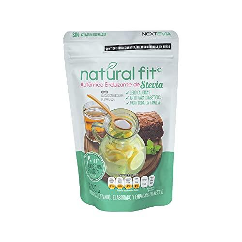 Natural Fit 250   Auténtico Endulzante de Stevia Pouch   250 Gramos   Stevia Cero Calorías   Apto para Diabéticos   Sin Azúcar   Sin Sucralosa   Stevia 100% Natural