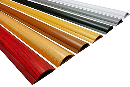 Electriduct Cable Shield Cord Cover - CSX-2 PVC Floor Wire Protector - 59 Inch - Wood Grain