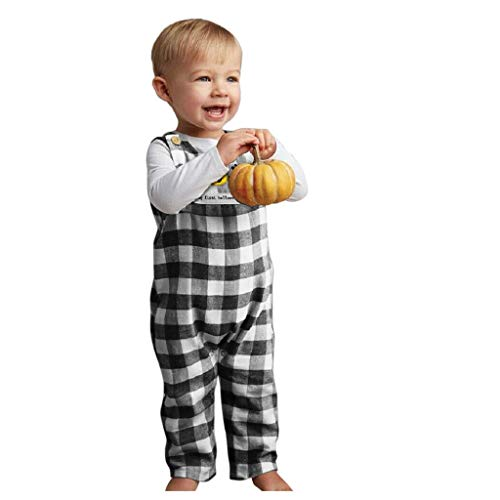 H.eternal(TM) 0-24 M Halloween bebé niña calabaza estampado mameluco mono mono + babero conjunto conjunto conjunto conjunto conjunto conjunto conjunto de mono para bebé niños niñas