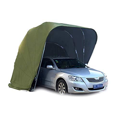 SOHOH Hochleistungs-Carport, Mobiles Garagen-Autozelt Zelt Tragbarer Garagen-Lagerraum Hochleistungs-Stahlrahmen-Carport Im Freien 100% Wasserdicht