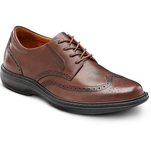 Dr. Comfort Wing Men's Therapeutic Diabetic Extra Depth Dress Shoe: Chestnut 7.5 Wide (E/2E)...