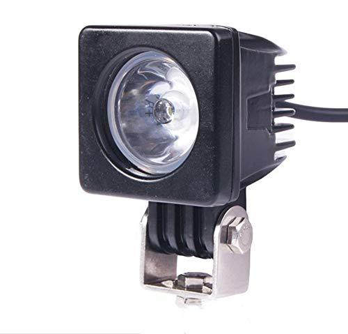 PoJu Barres lumineuses LED Lumières tout-terrain rondes Boîtier en alliage d'aluminium 3 pouces 10W Étanche Inspection Étui de lampe de réparation en alliage d'aluminium Étanche (Color : Gray)