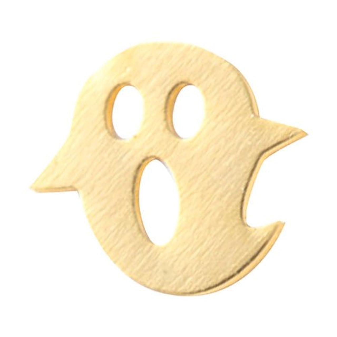 ビルマ力強い定期的にリトルプリティー ネイルアートパーツ オバケ ゴールド 10個