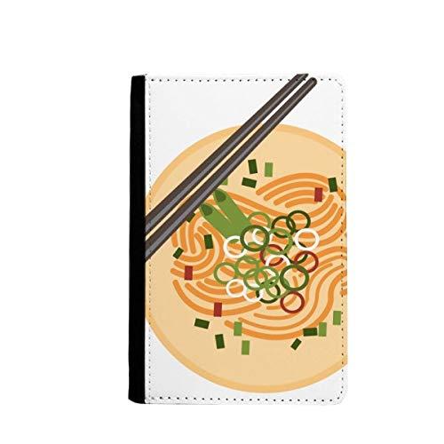 beatChong Chinesisches Gericht Nudel Delicious Food-Muster-Pass-Halter Travel Wallet Abdeckungs-Fall Karten-Geldbeutel