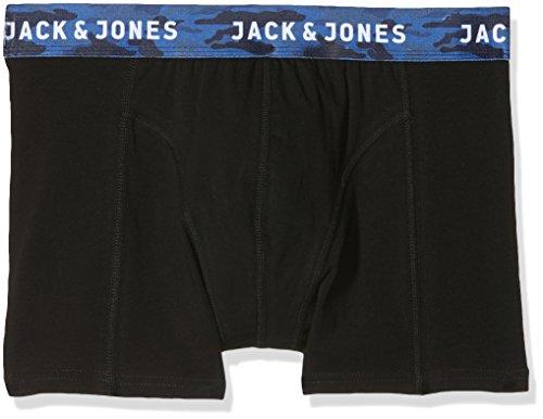 JACK & JONES Jacnew Camo Trunks 3 Pack Bóxer, Negro (Black Detail:Black), X-Large (Pack de 3) para Hombre