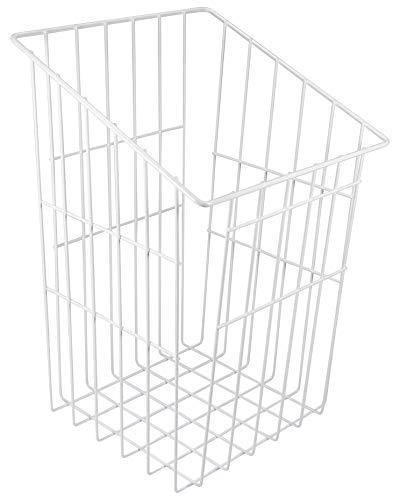 Gedotec Gitterkorb Wäschekorb weiß mit Einhänge-Funktion | Wäsche-Sammler stapelbar | Breite 290 mm | Tiefe 270 mm | MADE IN GERMANY | Metall weiß | 1 Stück - Wäsche-Korb für Schrank & Aufbewahrung