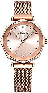 Meibin Analog Wrist Watch Magnet Band Water Resistant For Women, M1210-RGM