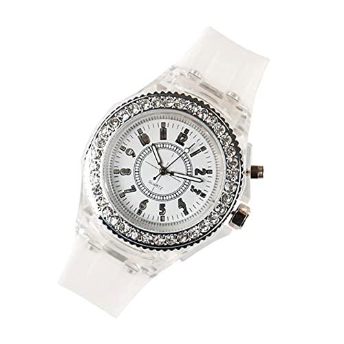 PJKKawesome Relojes De Regalo Colorido Masonería Mampostería Silicone Boy Y Girl Sports Student Watch White