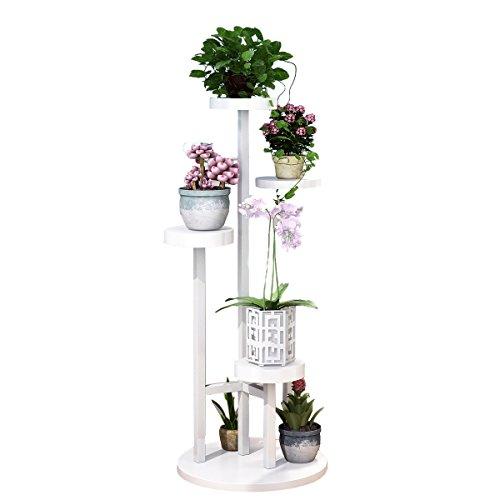 LIU UK Flower Stand Estante móvil del pote de Flor del Piso del balcón Multi-Capa del Soporte de la...