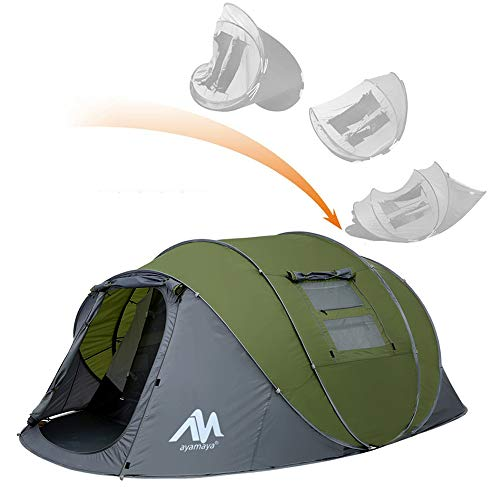 ayamaya Pop Up Tents with Vestibule for 4 to 6...