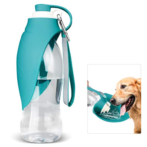 TIOVERY Dog Water Bottle for Walking Pet Water Dispenser Feeder Container portable with Drinking Cup Bowl Outdoor Hiking Travel for Puppy Cats Hamsters Rabbits and Other Small Animals 20 OZ