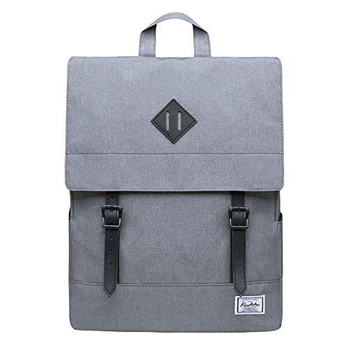 KAUKKO Rucksack Damen Herren Business Rucksäcke mit Laptopfach - Vintage Mädchen Daypack für Uni & Alltag 14.9 Liters Hellgrau