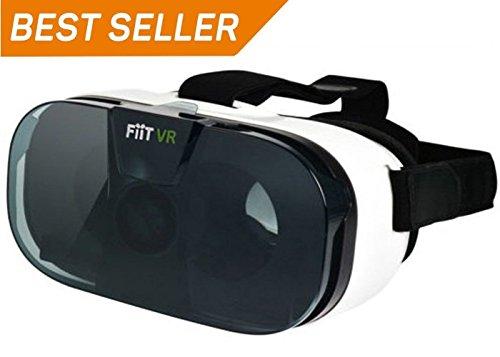 Unsea FIIT 3D Senior VR-Headset, Virtual-Reality-Headset, 3D VR-Brille, geeignet für alle iOS und Android Smartphones (ABS-Rohstoff, hohe Durchlässigkeit, asphärische optische Linse)