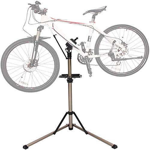 Multifunction Tools, Bike Repair Stand - Home Portable Bicycle Mechanics Workstand Height Adjustable Aluminum Alloy Foldable Bicycle Repair Stand Floor - for Mountain Bikes And Road Bikes Maintenance