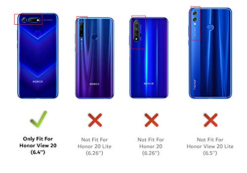 DUX DUCIS Hülle für Honor View 20, Leder Flip Handyhülle Schutzhülle Tasche Case mit [Kartenfach] [Standfunktion] [Magnetverschluss] für Huawei Honor View 20 (Blau) - 2