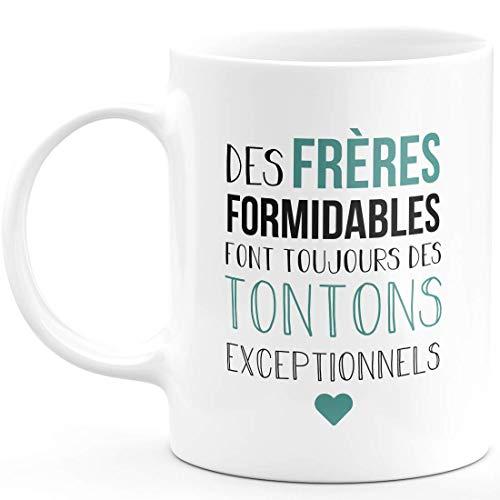 Mug frères Formidables Tontons exceptionnels - Tasse Originale pour Annonce Grossesse Tonton Naissance Enfant idée Cadeau Annonce bébé Fille garçon