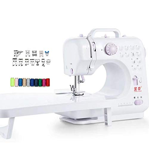 Purchase Electric Sewing Machine, Portable Electric Sewing Machine with Lamp and Thread Cutter for H...