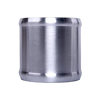 Hiwowsport 3inch Length Alloy Aluminum Hose Adapter 76mm Length Joiner Pipe Connector  76mm  3 inch