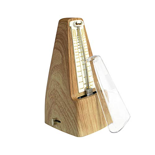 XuBa SO-LO - Metronomo meccanico professionale ad alta precisione, stile vintage antico, per chitarra pianoforte, accessori per violino piatto 201 x 95 x 110 mm