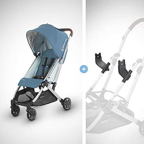 UPPAbaby MINU Stroller + MESA Adapter - Ryan (Teal Melange/Silver/Saddle Leather)