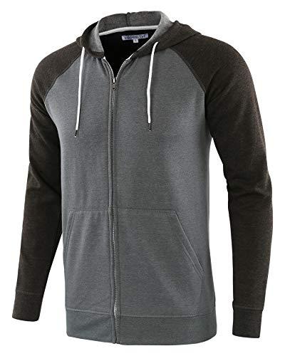 NREALY Jacket Mens Winter Sheepskin Jacket Warm Wool Lined Mountain Faux Lamb Jackets Coat ((US:M) Tag M, H_Black)